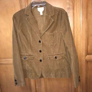 Talbots brown corduroy blazer